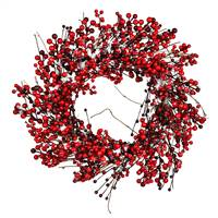"28"" Red Snow Berry Wreath"