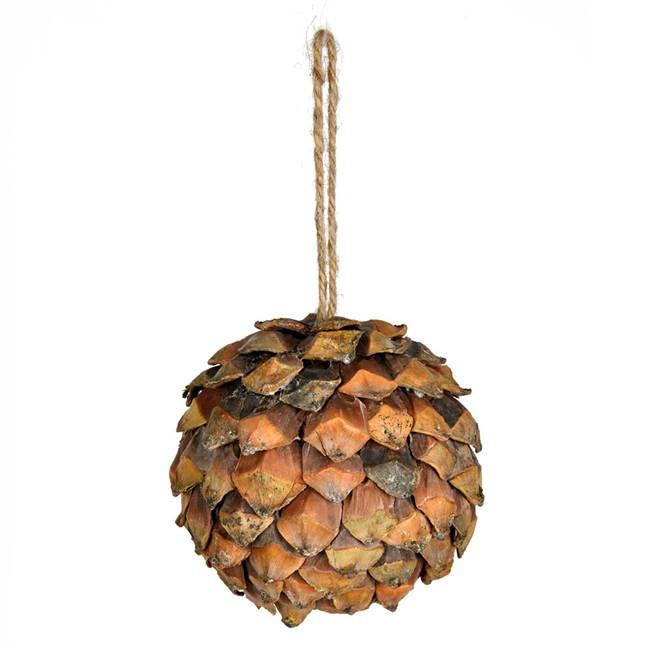 "5.5"" Chip Pinecone Ball 2/Pk"