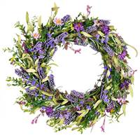 "24"" Purple Lilac Wild Flower Wreath"