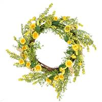 "24"" Yellow Sunflower Wreath"