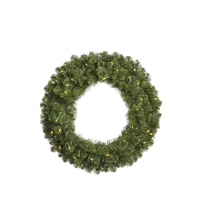 "48"" Teton Double Sided Wreath 400WmWtLED"