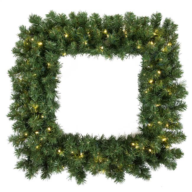 "48"" Grand Teton Sq Wreath 200WmWht LED"