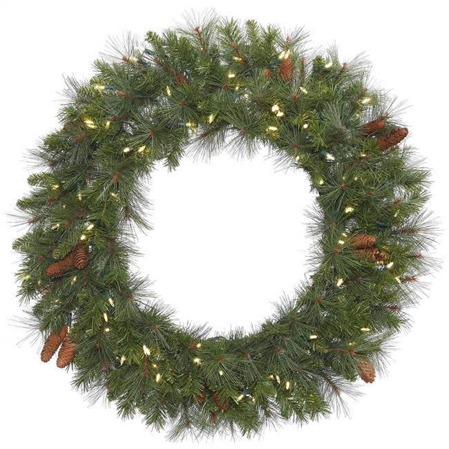 "36"" Savannah Mixed Wreath DuraLit 100CL"