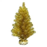 "2' x 16"" Gold Tinsel Tree 75Tips"