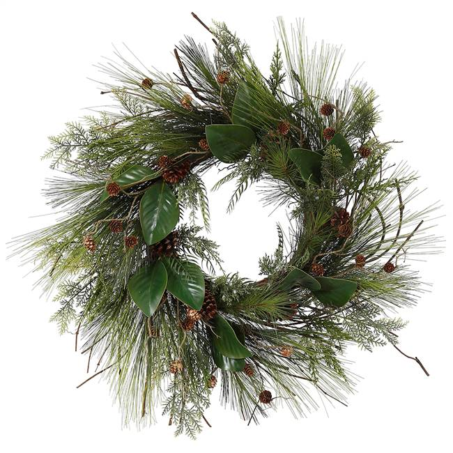 "48"" Bangor Mixed Pine Wreath 552Tips"