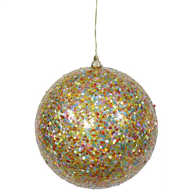 "6"" Lime Multi Sequin-Glitter Ball"