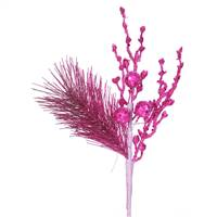 8'' Magenta Glit Sequin Berry Pine Spray