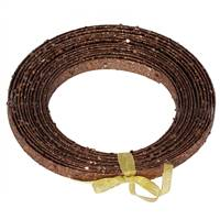 "23' X .5"" Chocolate Glitter  Ribbon"
