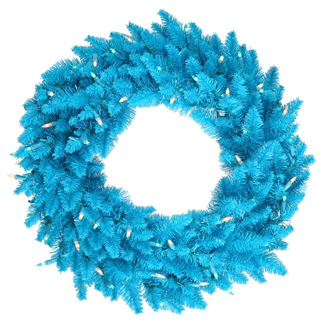 "48"" Sky Blue Fir Wreath  480T"