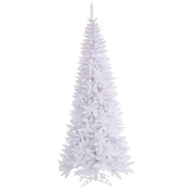 "4.5'x24"" White Slim Fir Tree 400T"