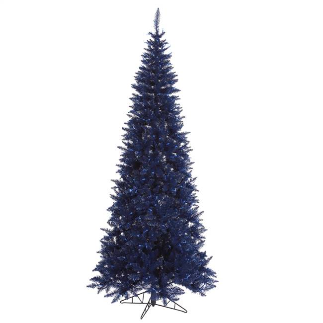 "4.5'x24"" Navy Blue Slim Fir Tree 400T"