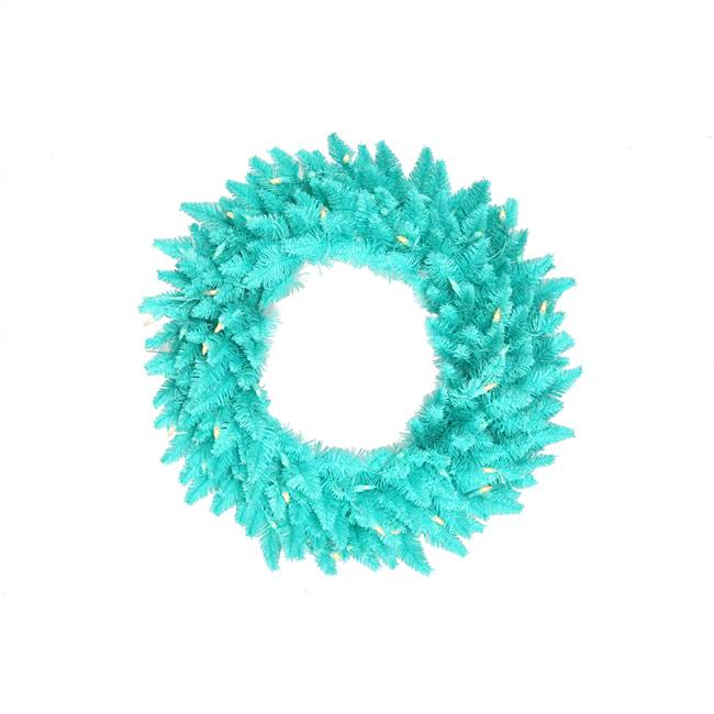 "48"" Aqua Fir Wreath DuraL 150Aq 480T"
