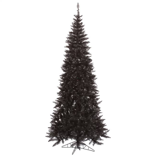 "7.5'x40"" Black Slim Fir Tree 1238T"