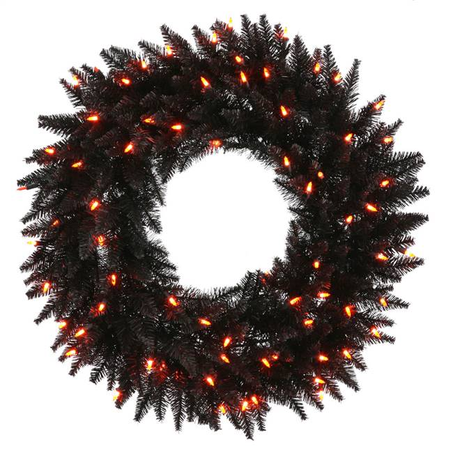 "48"" Black Fir Wreath DuraL 150Org 480T"