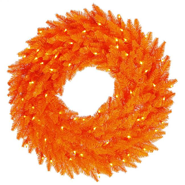 "48"" Orange Wreath DL LED 150Org 480T"