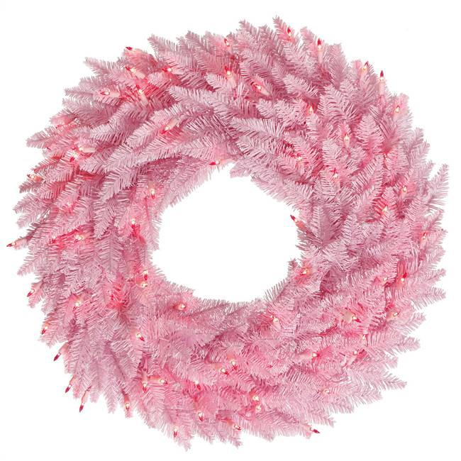 "48"" Pink Fir Wreath DuraL 150Pk 480T"