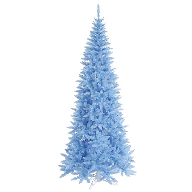 "9'x46"" Sky Blue Slim Fir Tree 1798T"