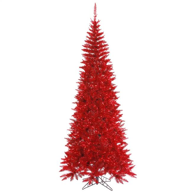 "4.5'x24"" Tinsel Red Slim Fir 400T"