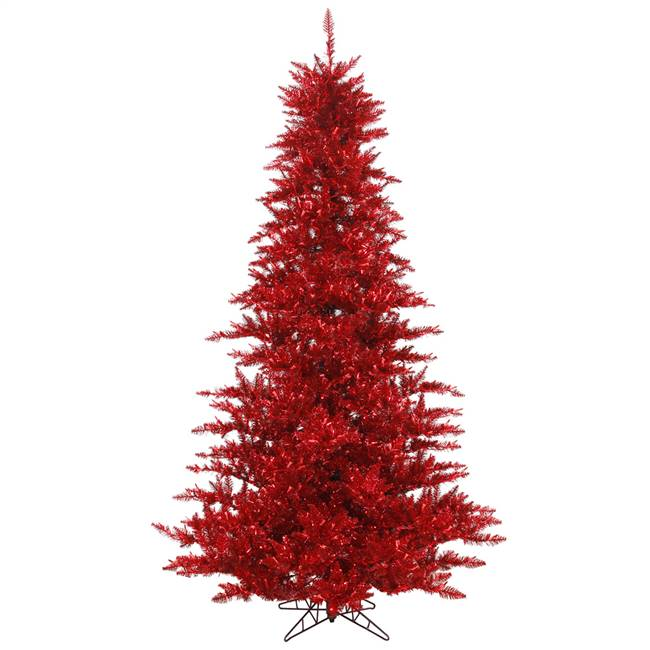 "4.5'x34"" Tinsel Red Fir Tree 525T"
