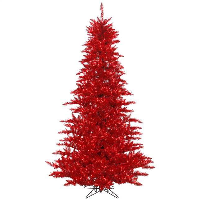 "4.5'x34"" Tinsel Red DL LED 250Red"