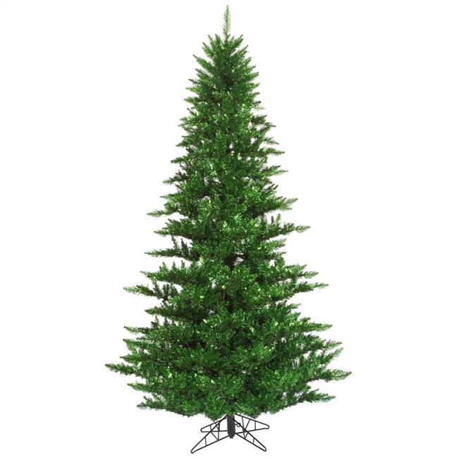 "4.5'x34"" Tinsel Green Fir Tree 525T"
