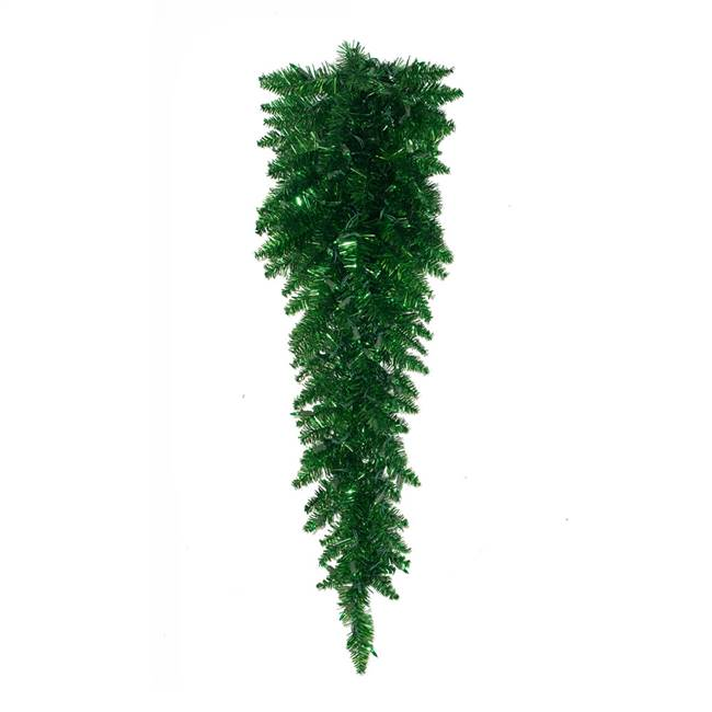"36"" Tinsel Green Fir Teardrop 50 Green"