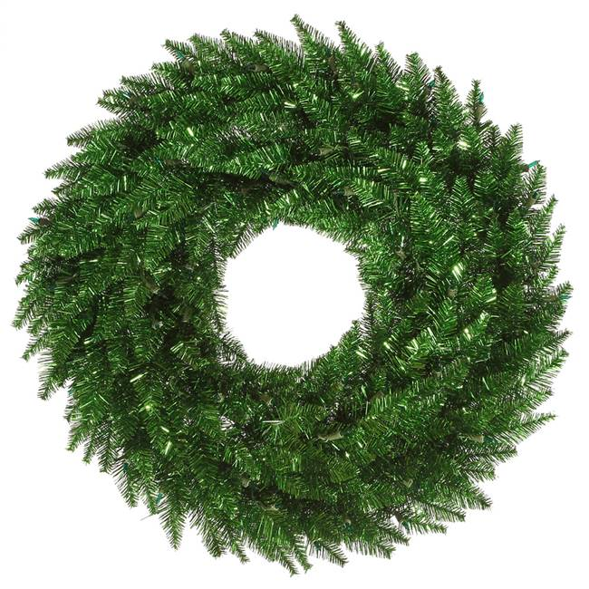 "36"" Tinsel Green Fir Wreath 320T"