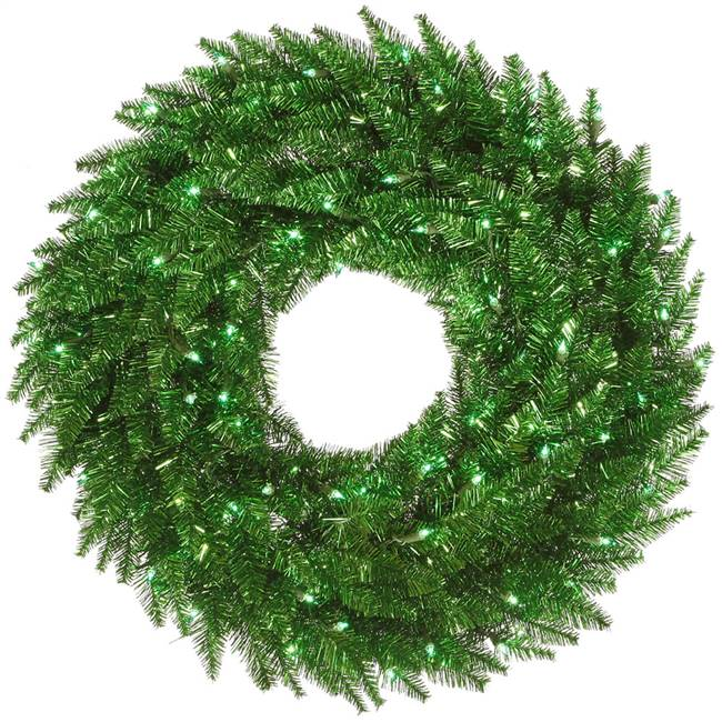 "48"" Tinsel Green Wreath 150Gn 480T"