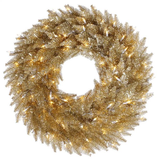 "48"" Champagne Wreath DuraL LED 150WmWt"
