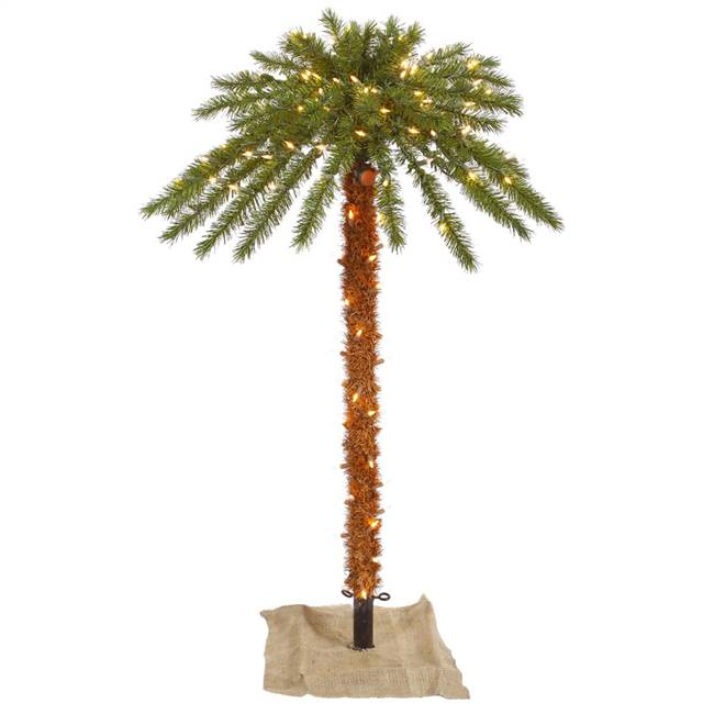4' Outdoor Palm Tree DuraLit 150CL 46T
