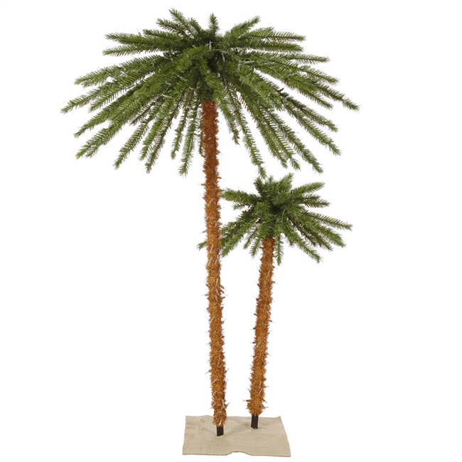 4'&6' Outdoor Palm Tree DuraL LED400WmWt