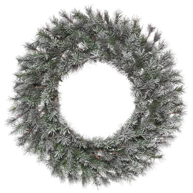 "48"" Frosted Lacey Wreath 400T"