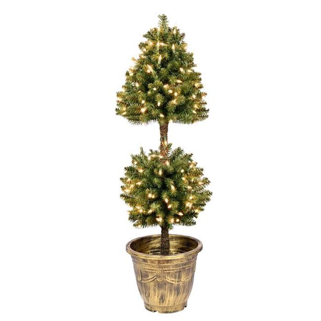 4' Tifton Two Ball Topiary DuraLit 200CL