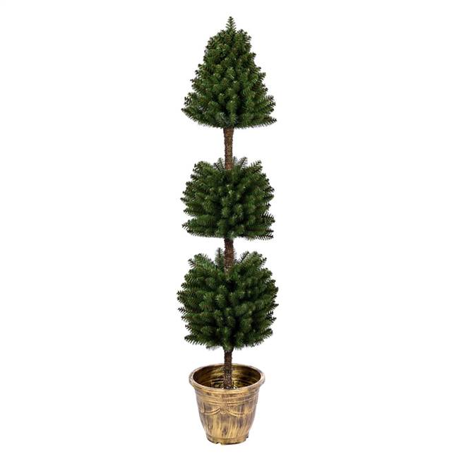5' Potted Tifton 3 Ball Topiary 492Tip