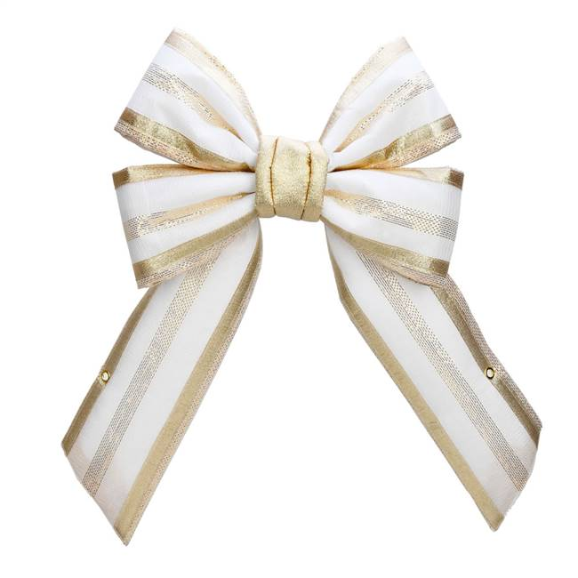 "18"" Champagne Bow Outdoor"