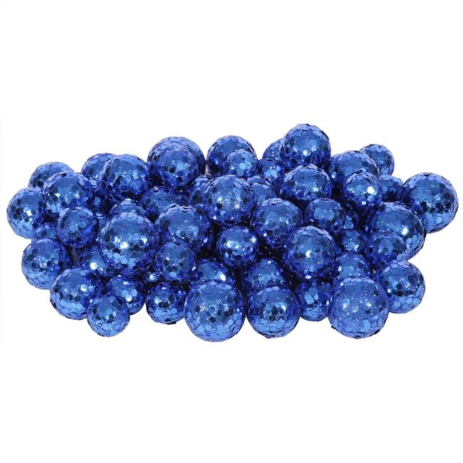 20-25-30MM Blue Glitt Ball 72/Bag