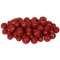 20-25-30MM Red Glitt Ball 72/Bag