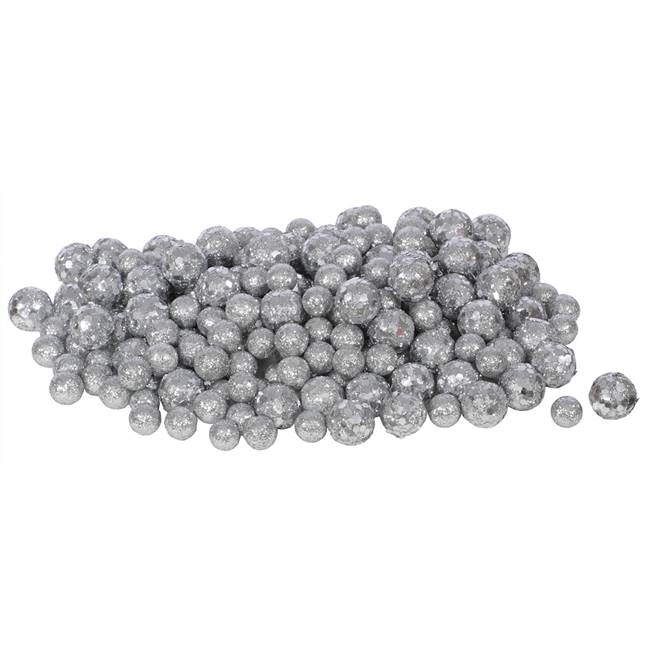 20-25-30MM Silver Glitt Ball 72/Bag