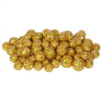 20-25-30MM Gold Glitt Ball 72/Bag