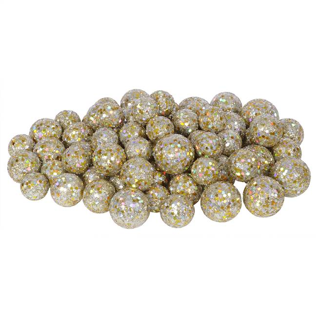 20-25-30MM Champagne Glitt Ball 72/Bag
