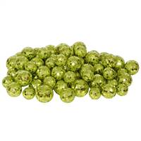 20-25-30MM Lime Glitt Ball 72/Bag