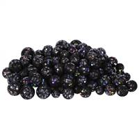 20-25-30MM Black Glitt Ball 72/Bag