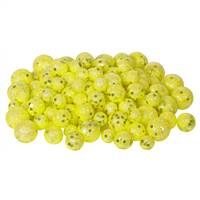 20-25-30MM Yellow Glitt Ball 72/Bag