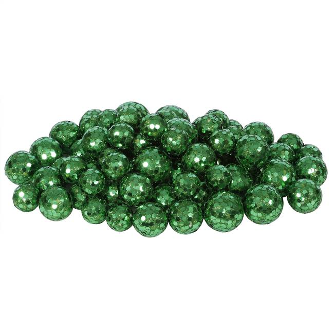 20-25-30MM Emerald Glitt Ball 72/Bag
