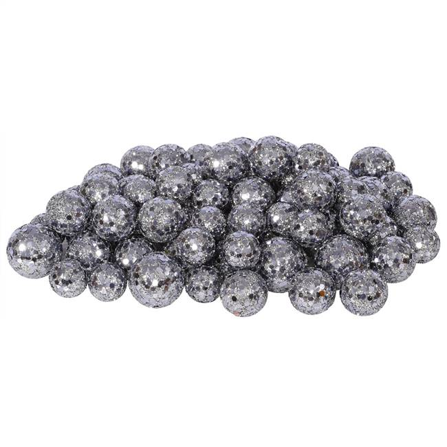 20-25-30MM Pewter Glitt Ball 72/Bag