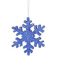 "8"" Blue Outdoor Glitter Snowflake"