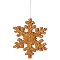 "8"" Rose Gold Outdoor Glitter Snowflake"