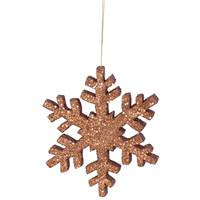 "8"" Copper Outdoor Glitter Snowflake"