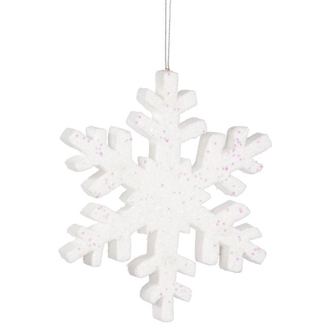 "30"" White Outdoor Glitter Snowflake"