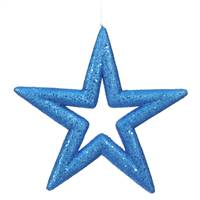 "14"" Blue Glitter Star Outdoor"